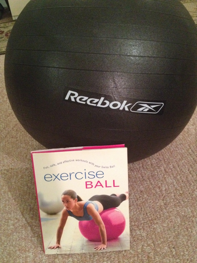 "The book is called ""Exercise Ball"" (imagine that) by Sara Rose. It's a quick, easy read with 8 short chapters. It covers things like body and mind basics, spinal strength and mobility, and upper and lower body."