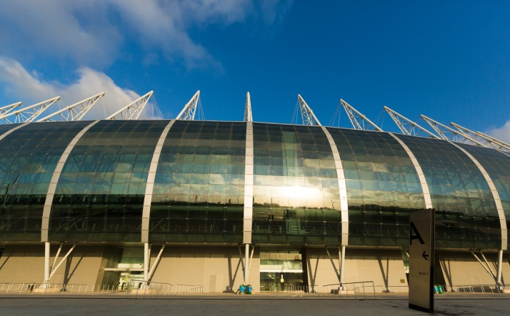 The venue, Arena Castelão, where World Cup games have been held. (Photo by Ron Nickel.)